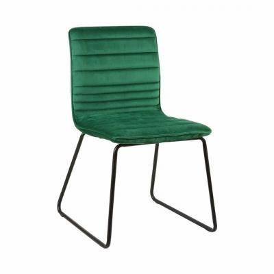 Steppelt bársony szék, pávazöld - VENUS